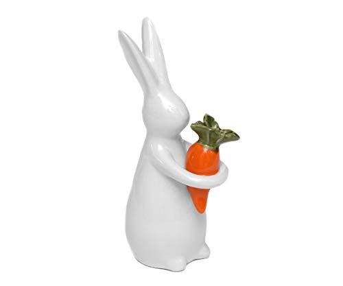 rzellan Hase Weiß Deko-Osterhase Dekorations-Figur Hase ()