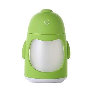 Bayliney Tragbar Pinguin Luftbefeuchter Mini Nacht Licht USB Luftreinigungsapparat ParfüM Flaschen Travel Tragbare NachfüLlbar Parfum ZerstäUber Leere SprüHflasche FüR(Grün)