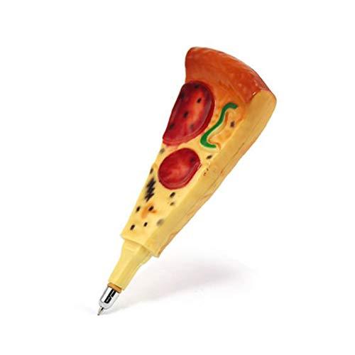 Novelty Cute Pizza Pens Ballpoint Pen for School Office Kids Toy Gift 2Pcs
