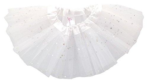 Dancina Baby Tüllrock Tutu Ballettrock Glitzer Sterne Weiß One Size