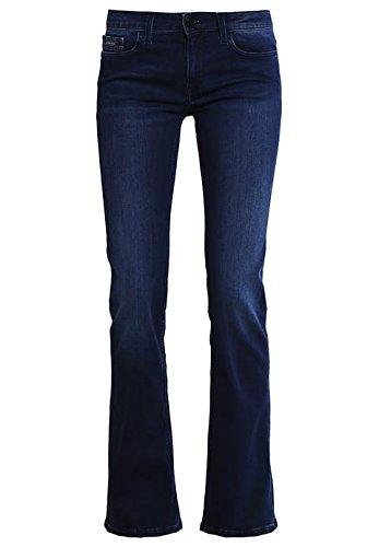 CALVIN KLEIN JEANS MID RISE BOOTCUT Damen Jeans Bootcut satin dark blau W27 L32 - Calvin Klein Bootcut Jeans