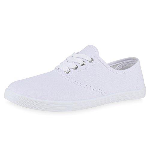 27f06eeb57463a SCARPE VITA Trendy Damen Sneakers Trendfarben Stoffschuhe Sportschuhe  165261 Weiss Weiss 39