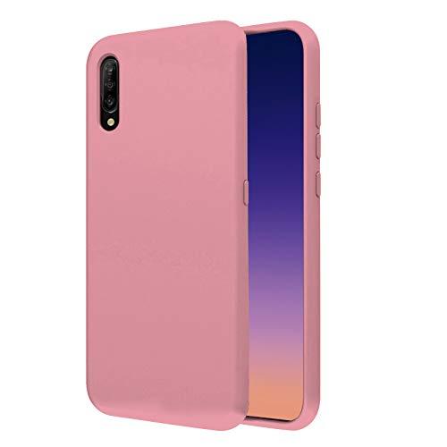 """TBOC Funda para Xiaomi Mi 9 [6.39""""]- Carcasa Rígida [Rosa] Silicona Líquida Premium [Tacto Suave] Forro Interior Microfibra [Protege la Cámara] Antideslizante Resistente Suciedad Arañazos"""
