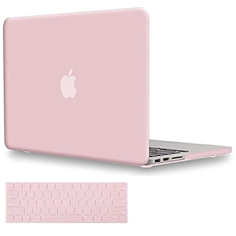 Macbook Pro 13 Hülle 2016,TECOOL [Ultra Slim Serie]Plastik Hartschale Schutzhülle Snap Case und Silicon Tastatur Abdeckung für Apple MacBook Pro 13 Zoll with/without Touch Bar and Touch ID Model: A1706 and A1708(Rose Quartz)