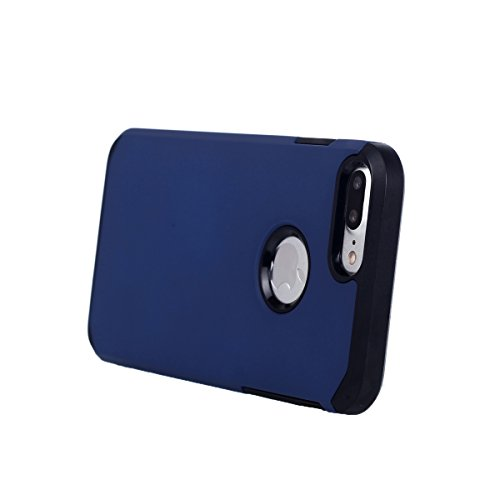 "MOONCASE iPhone 7 Plus Coque, Dual Layer Housse Hybride TPU +PC Etui Antichoc Protection Armure Case pour iPhone 7 Plus 5.5"" Gris Bleu"