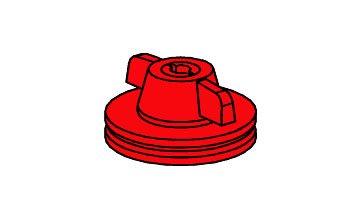 fischertechnik ® - 8 Stück - Flachnaben Flach Naben für Räder - 31015 - rot