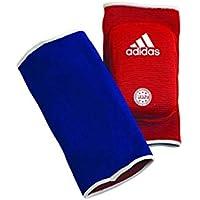 adidas Ellenbogenschoner Kickboxen Elbow Guard Padded, Blau/Rot, One Size
