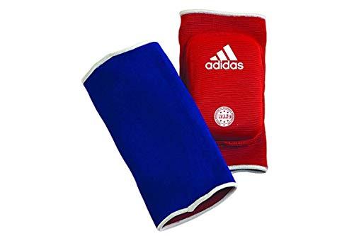 adidas Ellenbogenschoner Kickboxen Elbow Guard Padded Blau/Rot, One Size
