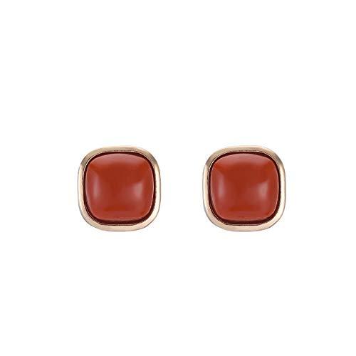 JJLEZl Sanfte Weiße Retro Geometrische Ohrringe Weibliche Hipster Einfache Ohrringe Mit Kurzen Haaren (Weibliche Hipster Kostüm)