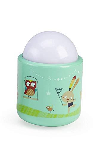 Pabobo - Nature - Veilleuse Portable LED à Lumière Douce pour Bébé et Enfant - Rechargeable - 70 heures d'autonomie sans pile ni fil - Vert