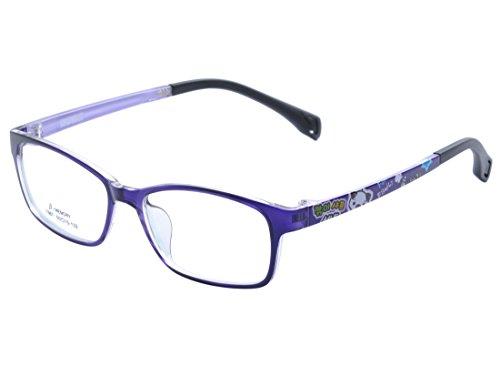 DEDING Kinder Acetate optische Brillenfassung mit FederscharnierDD1395 (Violett)