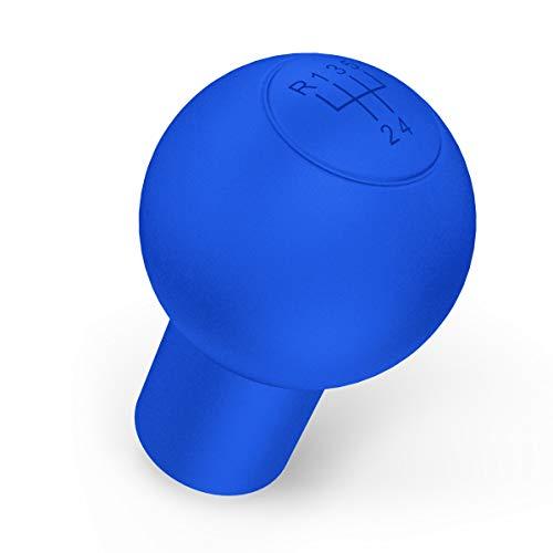 kwmobile Hülle für 5-Gänge Schaltknauf Rund Typ A - Silikon Gang Schaltknüppel Cover Schutzhülle in Blau