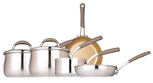 Prestige Moments Stainless Steel 5 Piece Cookware Set – Champagne, Set of 5
