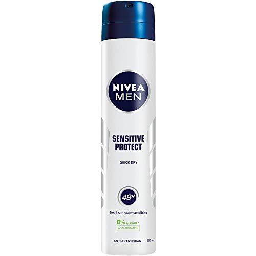 Nivea Men Déodorant Atomiseur Sensitive Protect 200 ml - Lot de 2