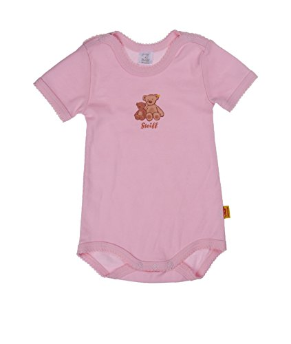 Steiff Baby - Mädchen Body Bodies 1/4 Arm, 3Er Pack, Gr. 56, Rosa (3-Er Pack Multicolored 8033)