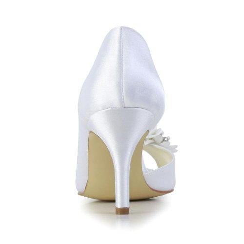 Jia Jia Wedding 83901AA chaussures de mariée mariage Escarpins pour femme Blanc