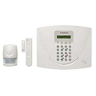 Friedland SL5F Funkalarmanlage 868MHz mit analogem Telefonwahlgerät und LCD-Display weiß