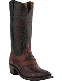 Lucchese dal 1883 M2535.54 Sella Scarpa, Canna Marrone/Nero Hornback Caiman