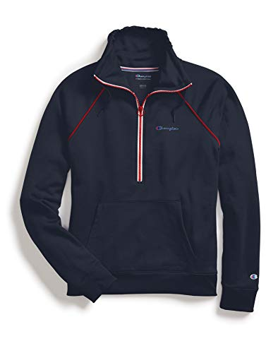 Champion Womens Half Zip Pullover (W4384) -Athletic N -M -