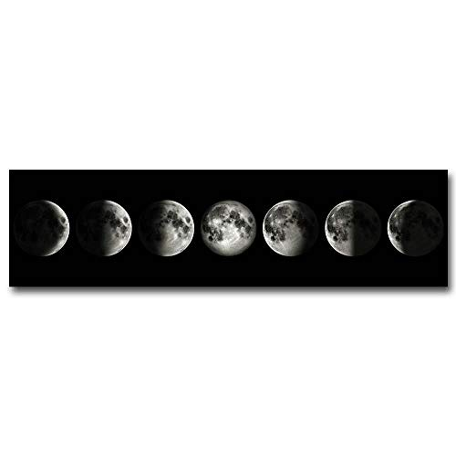 NCKLY Malen Mond Leinwand Poster Kunst Malerei Kosmischen Wandbild Lange Banner Drucken Wohnzimmer Schlafzimmer Dekoration,60X225 cm Kein Rahmen,Bild 1 -