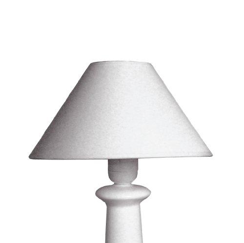 Rayher 2302802 Lampenschirm, rund, konisch, 22 cm ø unten, Höhe 14 cm, weiß, 100% Polyester, für Stehleuchte, Tischleuchte, auch zum Bemalen und Bekleben