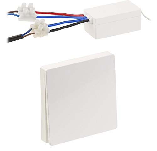 funkschalter fuer licht revolt Funkschalter: Batterieloser Funk-Wandtaster/Sender & Funk-Empfänger (Batterieloser Funkschalter)