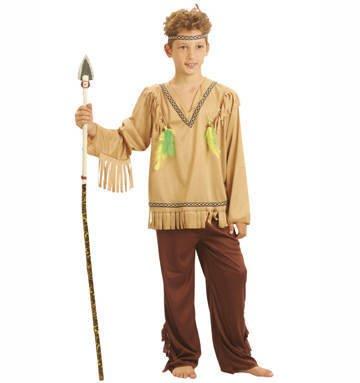 Party Partners 86528 Kinder-Kostüm Indianer, 7-9 Jahre -Junge-Karneval-