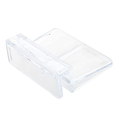 TOOGOO (R) Aquarium Fish Tank Glass Cover Clip Support Holder, 6 mm, Pack of 4 4