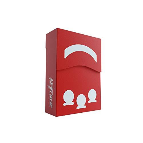 GAMEGEN!C- Keyforge Aries Red Deck Box, Color Rojo (GGS25001)