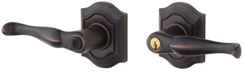 Baldwin 5237.112.RENT Bethpage Lever Keyed Entry Set, Venetian Bronze by Baldwin - Bronze Keyed Baldwin Hardware