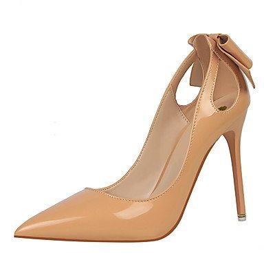Moda Donna Sandali Sexy donna tacchi Primavera / Estate / Autunno / Inverno Comfort / Punta / punta chiusa Casual Stiletto Heel Bowknot Red