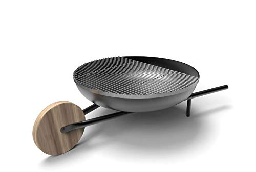 Konstantin Slawinski BARROW Feuerschale mit Grillfunktion / Mobiler Grill und Feuerstelle für den Garten / 139x81x35cm / Ø 81cm