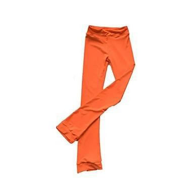 YAMEIJIA Über die Schlittschuhe reichende Strumpfhosen fürs Eiskunstlaufen Damen Mädchen Eiskunstlaufkleider Schwarz Orange Purpur Fuchsia, Orange, 175