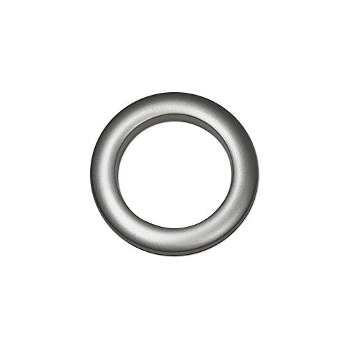 Oeillets à Clipser pour Rideaux Coloris Gris Anthracite - diamètre 55 mm - Lot de 8