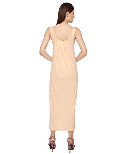 Valentine Cotton Full Length Camisole for Women - Long Innerwear Petticoat - Plus Size Nighty - Kurti Slip - Suit Slip - Pack of 2