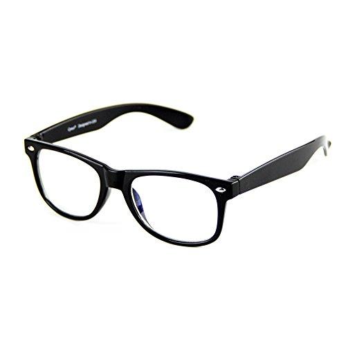 Cyxus filter blaues licht brille für kinder und jugendliche [transparente linse] anti ermüdung der augen das auge des kindes schützen Schwarzer Rahmen Brille ohne stärke