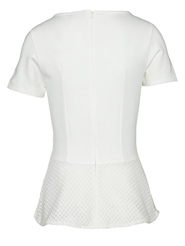 HUGO Shirt Dira mit Schößchen 50331767 Damen Naturweiß 103