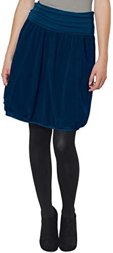 CASPAR RO004 Damen Winter Cord Rock knielang, Farbe:dunkelblau;Größe:One Size -