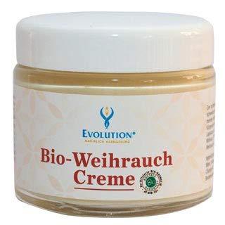 Weihrauch-Creme in Bio-Qualität von Evolution für MUSKELN, GELENKE UND HAUTIRRITATIONEN. Morgentliche Steifheit der Gelenke. Mit Edelsteinessenz Lapislazuli, 100% Naturrein, Frei von syntetischen Emulgatoren und Tensiden, Frei von Duft, Farb- und Konservierungsstoffen, ph-neutral, MADE IN AUSTRIA -