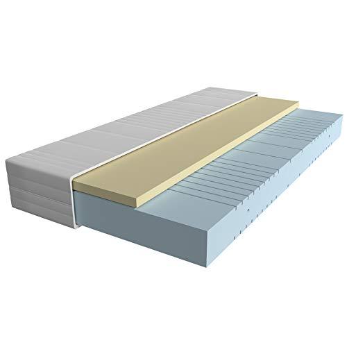 AM Qualitätsmatratzen - Visco-Matratze 90x200cm -H2 - Hochwertige Matratze mit 4cm Visco-Auflage - 20cm Höhe - Made in Germany