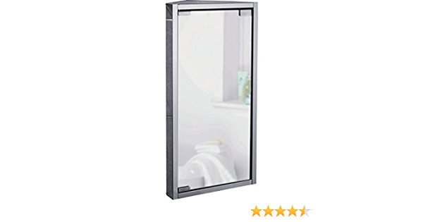 Home Mirrored Stainless Steel Corner Bathroom Cabinet Amazon Co Uk Kitchen Home