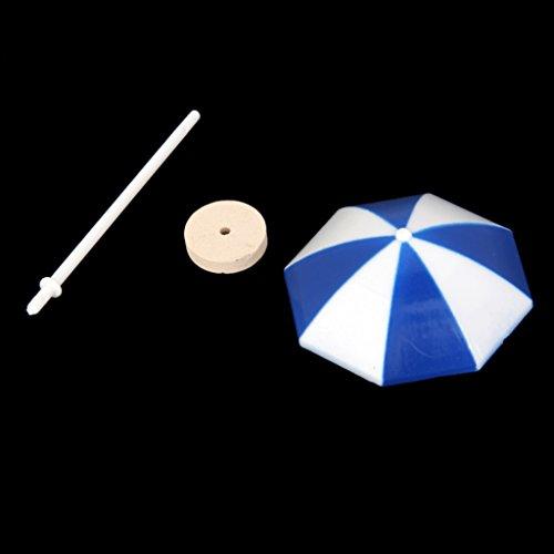 Preisvergleich Produktbild Generic mini Sonnenschirm Schirm Strand Miniatur Landschaft Bonsai Puppenhaus Dollhaus Dekoration , 4 * 6cm - Blau