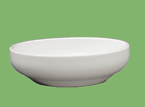 Hentschke Keramik Pflanzschale Grabschale Deko-Schale frostfest Ø 32 x 8 cm, weiß, 039.L32.04 Schale mit Bodenloch