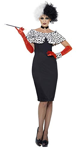 Evil Madame Costume by Smiffy's. Sizes 8 to 20 available.