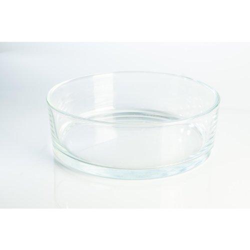 Coupelle décorative ronde en verre VERA, transparent, 8 cm, Ø 25 cm - Coupe à fruits / Centre de table en verre - INNA Glas