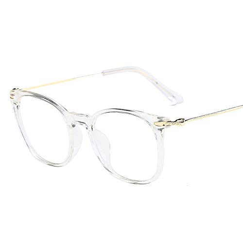 ZXYSSKT Blu-ray-Computer-Gläser Männer Flat Mirror High-End Goggles Female Anti-Blue Glasses,Clear