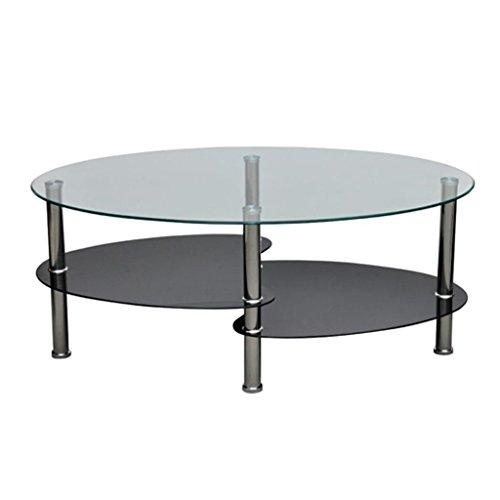 vidaXL Tavolino da caffè Vetro Design Esclusivo Nero Basso Tavolo da Salotto