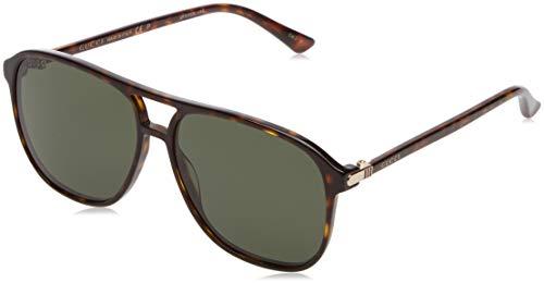 Gucci Herren GG0016S 007 Sonnenbrille, Braun (Avana/Green), 58