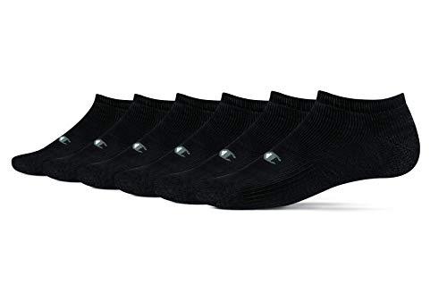 Champion Men's 6 Pack Low Cut Socks,Black,Shoe Size 12-14 -