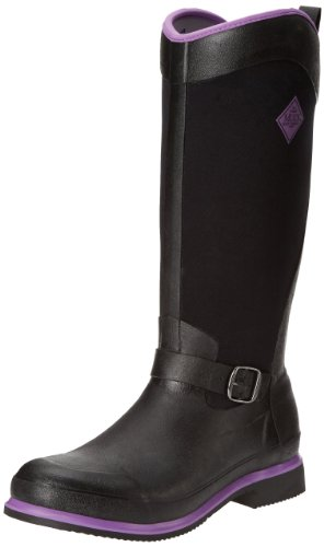 Muck Boots Reign Tall, Damen Stiefel Black (Black/Purple)
